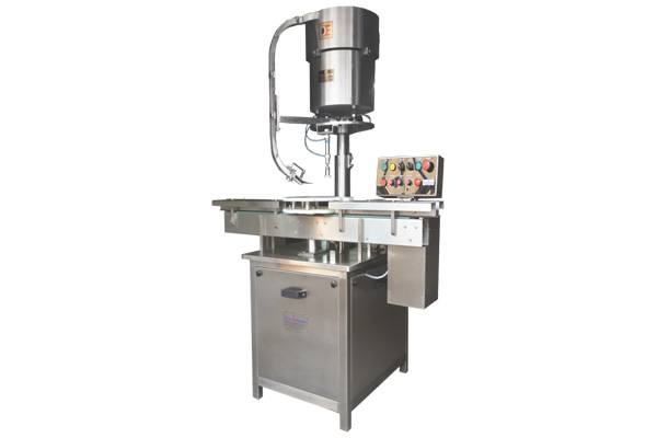 Automatic Measuring Cup Placement / Cap Pressing Machine